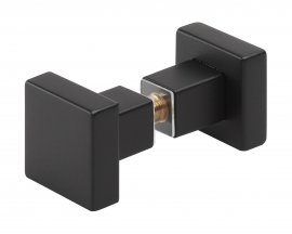 Bouton double carré Black Design